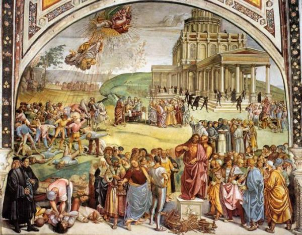 Sermon And Deeds Of The Antichrist. Luca Signorelli, Between 1499 And 1502. [Public Domain], Via Wikimedia Commons
