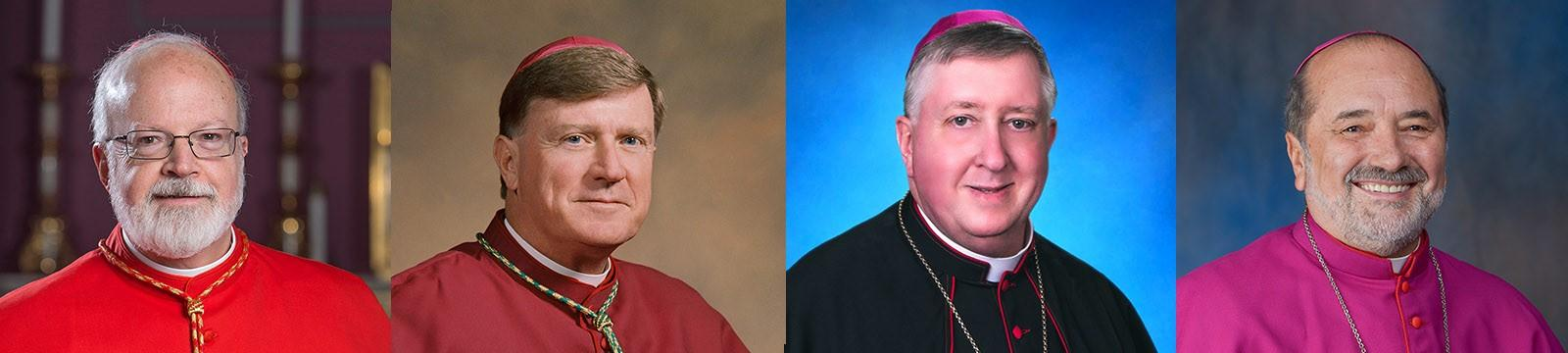 Cardinal Sean O' Malley of Boston, Bishop McManus of Worcester, Bishop Rozanski of Springfield, Bishop da Cuhna of Fall River